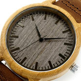 Women's Watch | Vintage Wooden Leather Strap Wristwatch