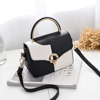 Hasp and Small Flap Daily Handbag