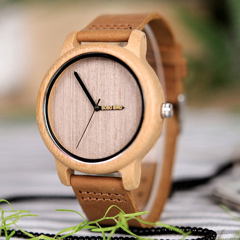Women's Watch | Engraved Wooden Wristwatch