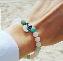 Load image into Gallery viewer, Amazonite I Rose Quartz I Hematite I Sterling Silver Healing Bracelet