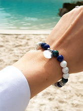 Load image into Gallery viewer, Howlite I Chrysocolla I Sterling Silver Healing Bracelet