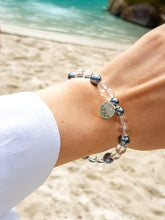 Load image into Gallery viewer, Crystal Quartz I Hematite I Sterling Silver Healing Bracelet