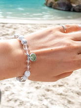 Load image into Gallery viewer, Clear Crystal, Howlite, Hematite I Sterling Silver I Healing Bracelet