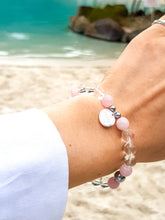 Load image into Gallery viewer, Clear & Rose Quartz, Hematite I Sterling Silver I Healing Bracelet