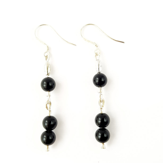 Black Onyx I Sterling Silver I Earrings