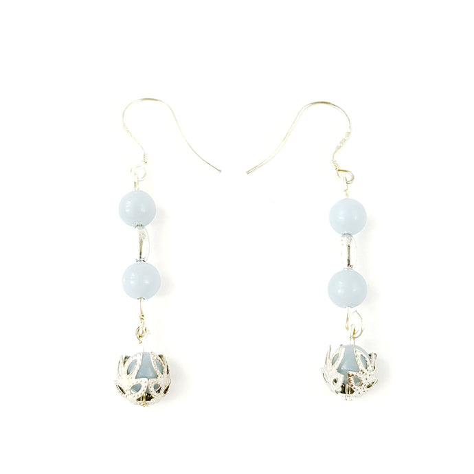 Tranquil Angelite I Sterling Silver Earrings