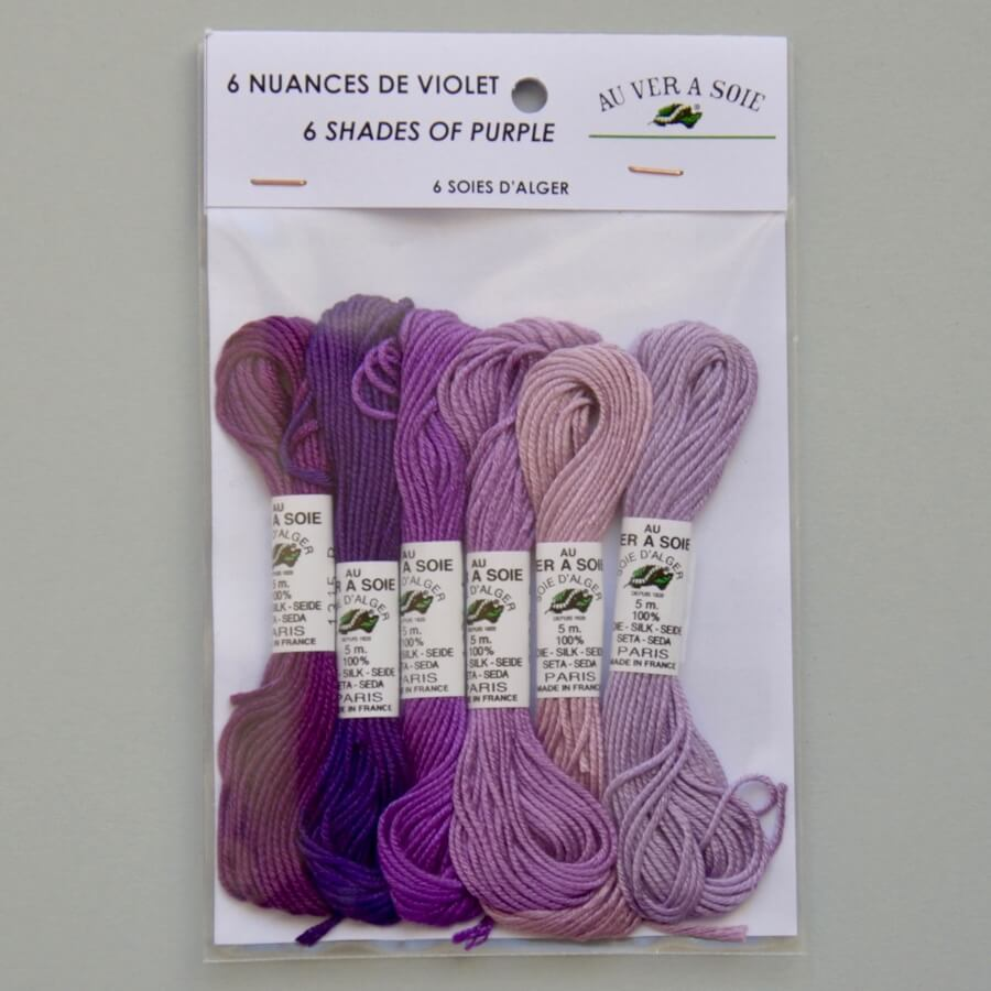 Pack 6 Nuances | Soie d'Alger | violet, purple, lila