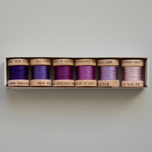 Pack 6 Nuances | Soie Perlée | violet, purple, lila
