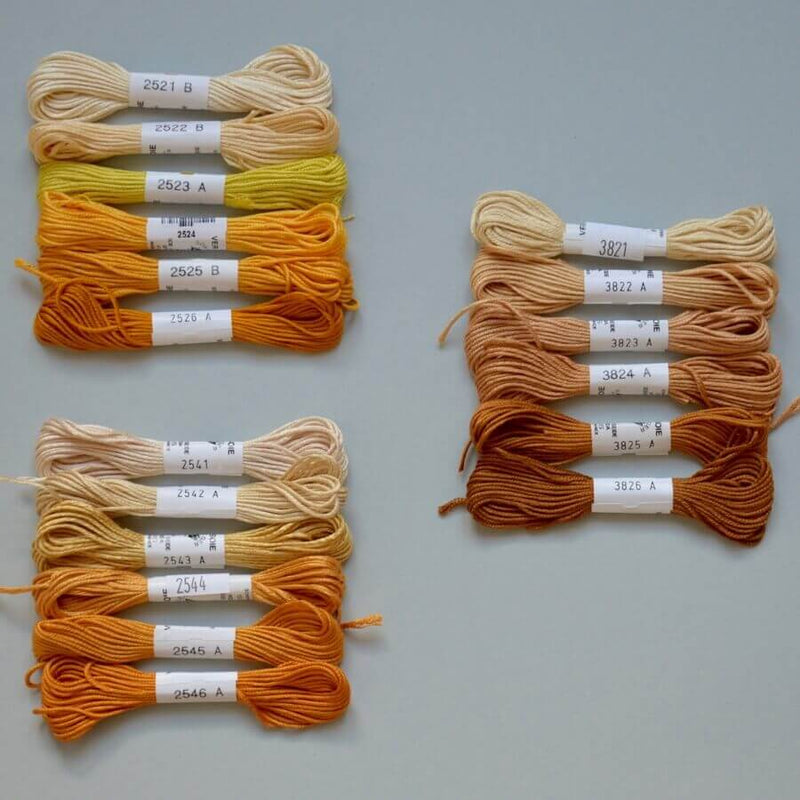 Soie d'Alger | Universalseidenstickgarn | yellow orange extra | gelb orange extra