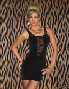 Scoop Lace Mini Dress