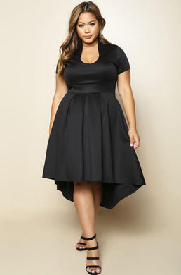 Matte High Low Dress.