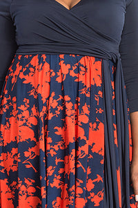 Dark Blue Print Dress