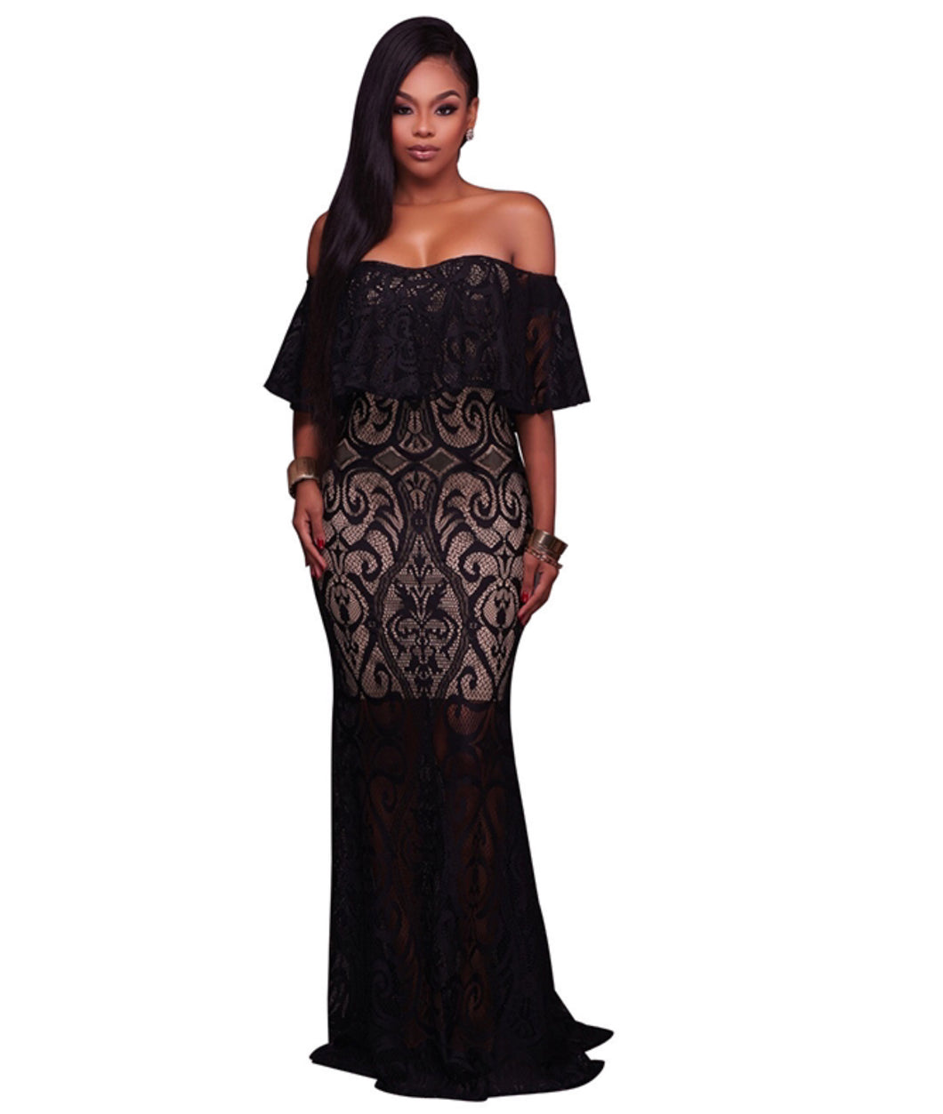 Elegant Lace Formal Gown