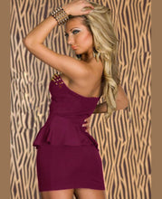 Strapless Peplum Mini Dress
