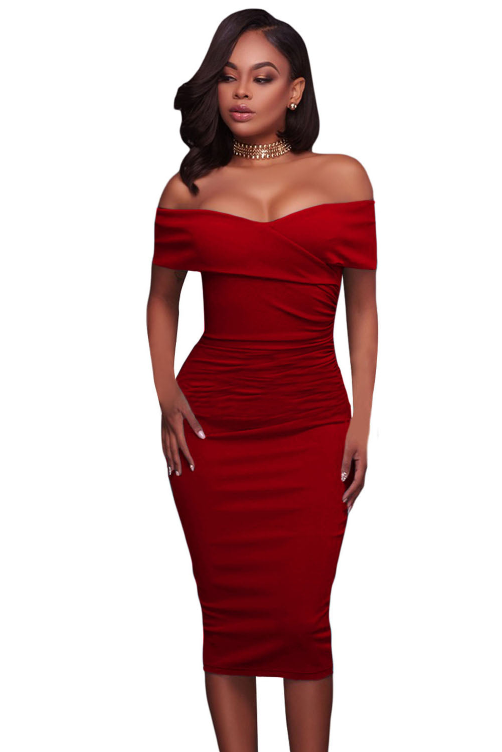 Sexy Strapless Bodycon Dress