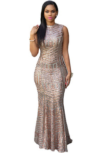 Champagne Sequin Gown