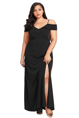 Formal Off Shoulder Dress. Maxi Length.
