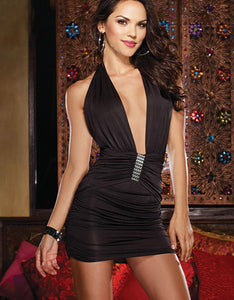 Rhinestone Mini Dress.