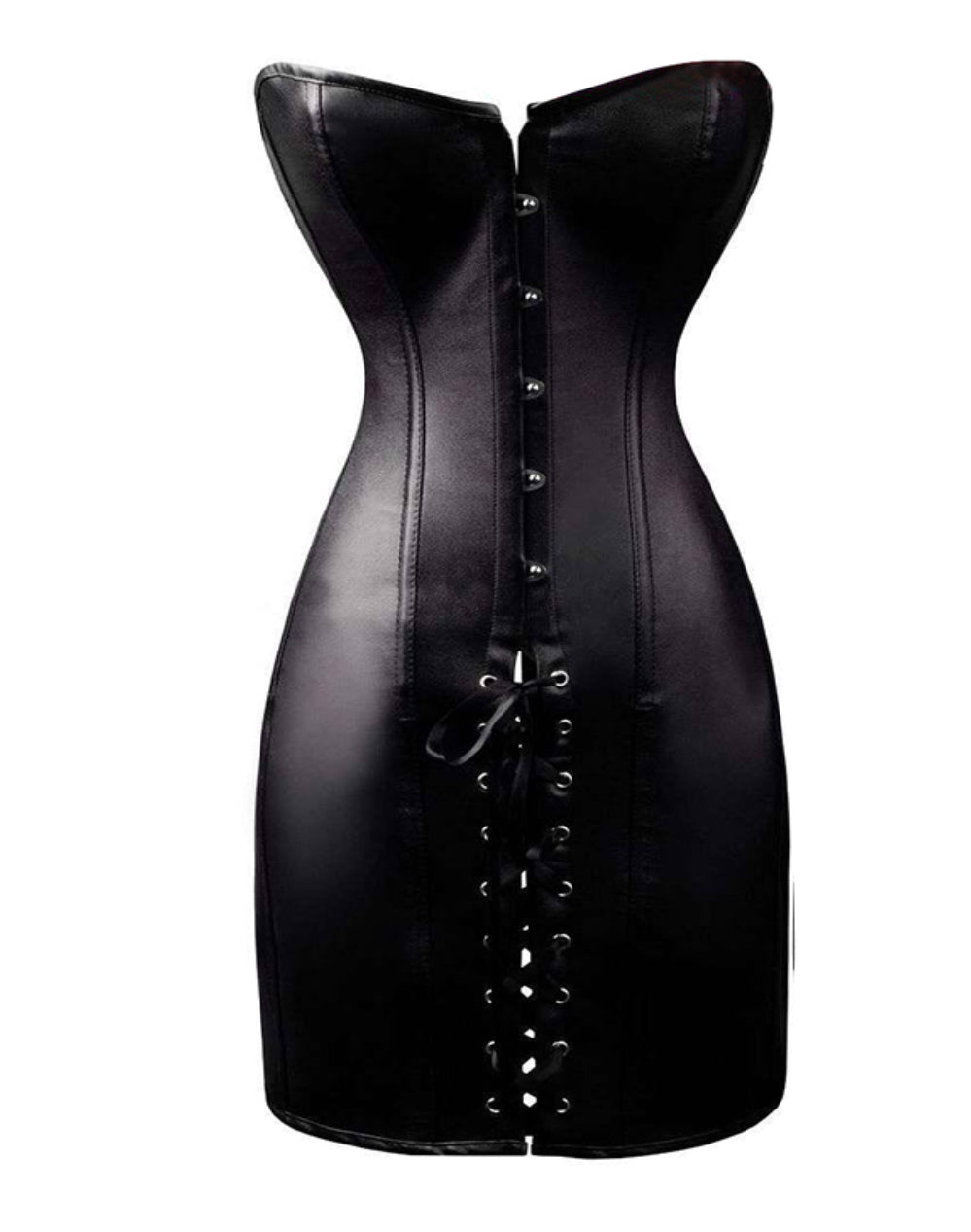 Black Overbust Corset Dress