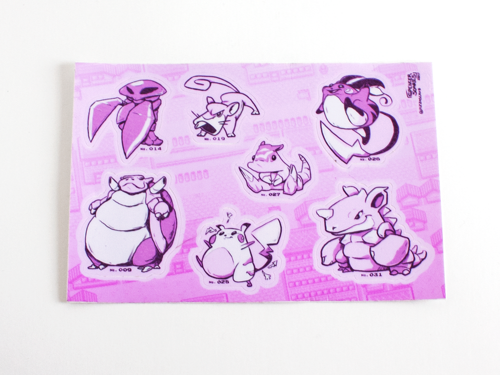 POKEMON 001-031 sticker sheet