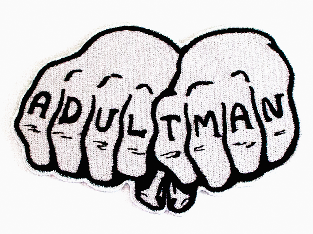 ADULT MAN iron on patch