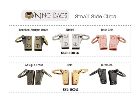 Small Side Anchor / Side clips in nickel rose gold brushed antique brass gunmetal