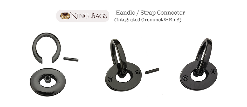 gunmetal integrated grommet and ring by ningbags