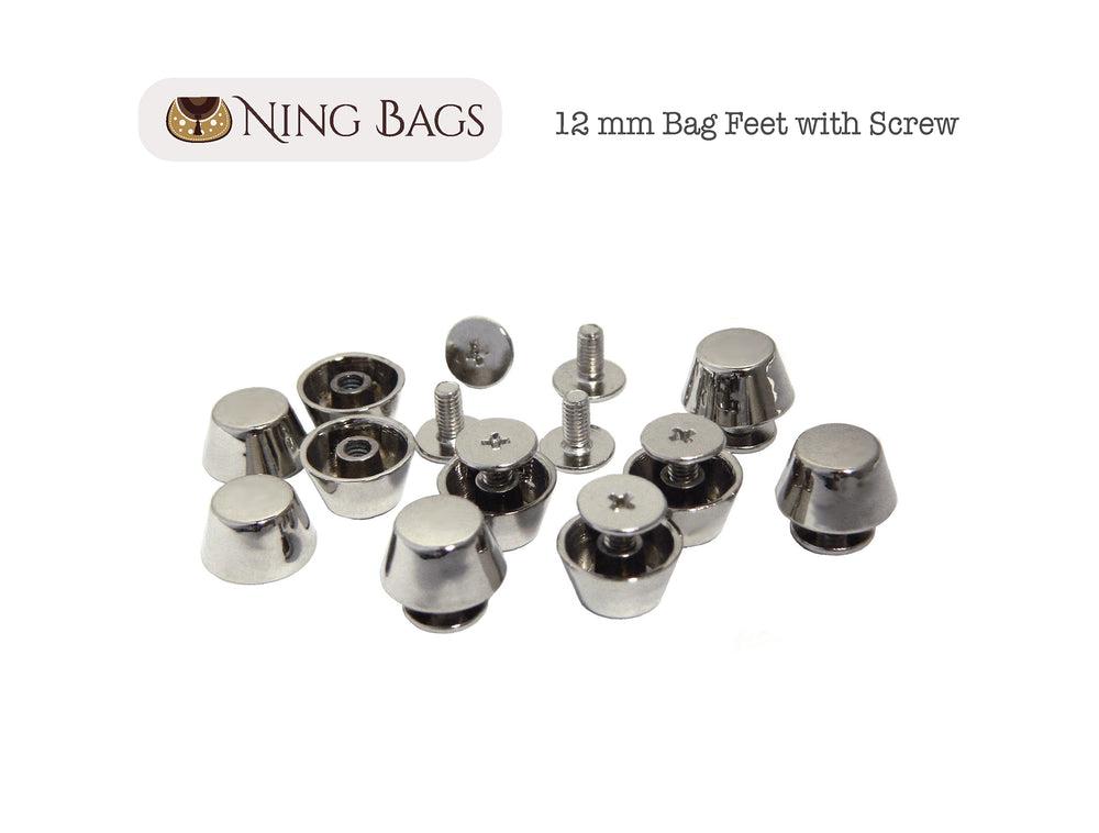 nickel screw-on purse feet