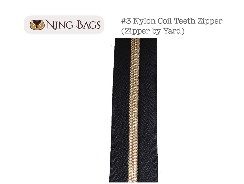 Metallic Nylon Coil Zipper by Ning Bags