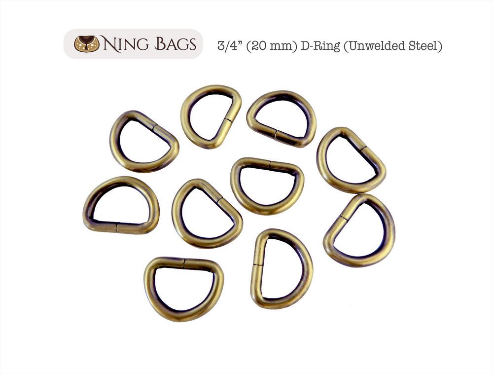 brushed antique brass purse rings