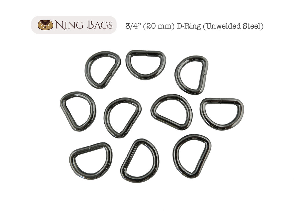 gunmetal purse rings