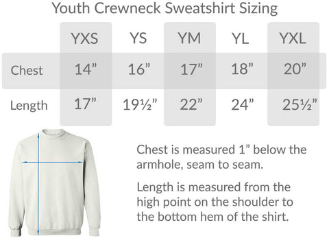youth crew neck sweatshirt size chart graphic sweatshirt t shirts cool graphic tees