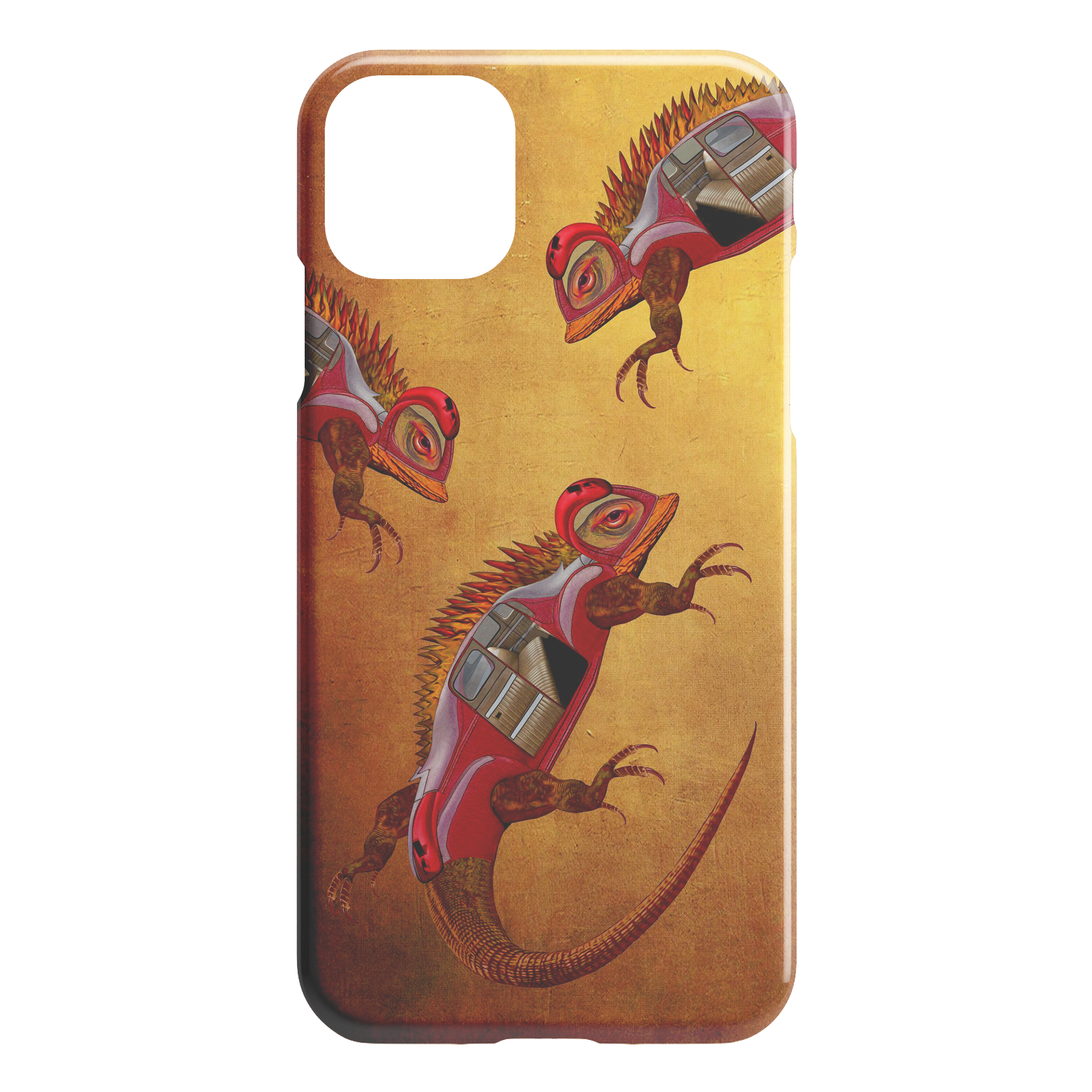 UBER LIZARDS INVADE - iPHONE CASE