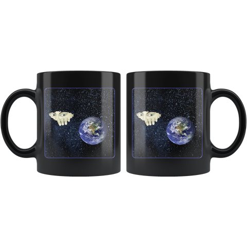 Somewhere Out There - 11 oz black mug