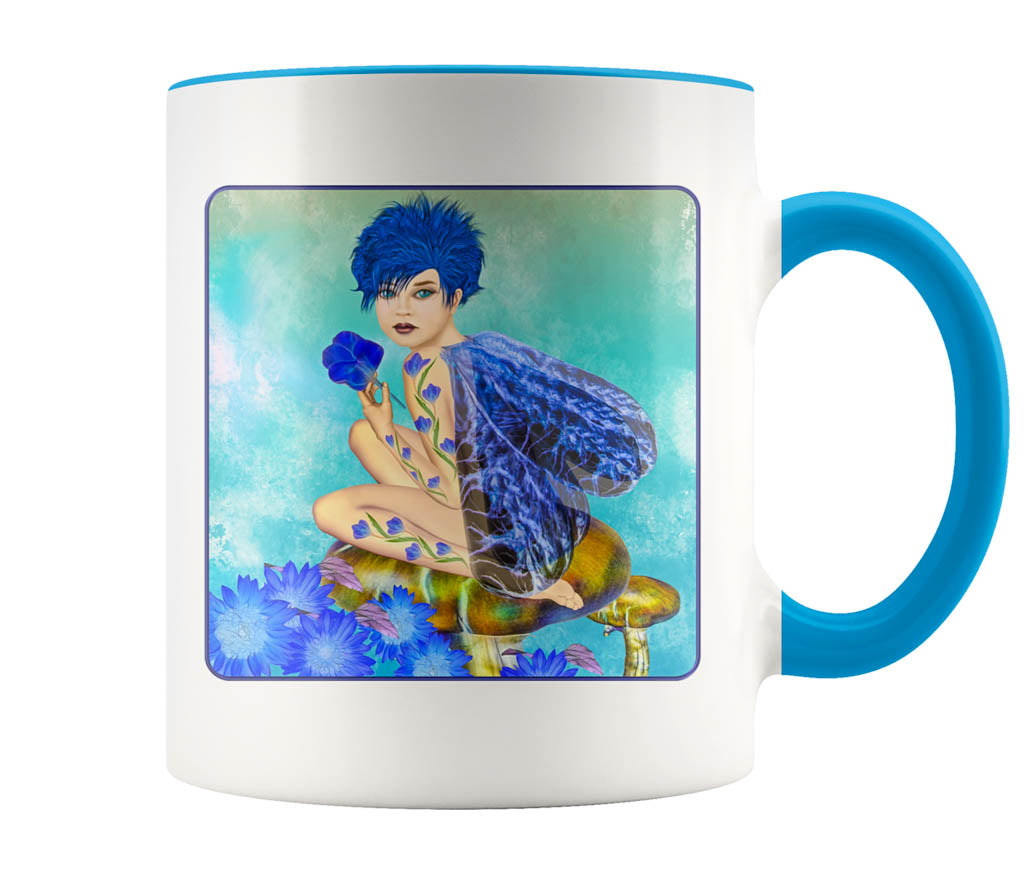 Blue Fairy - 11 oz color accent mug