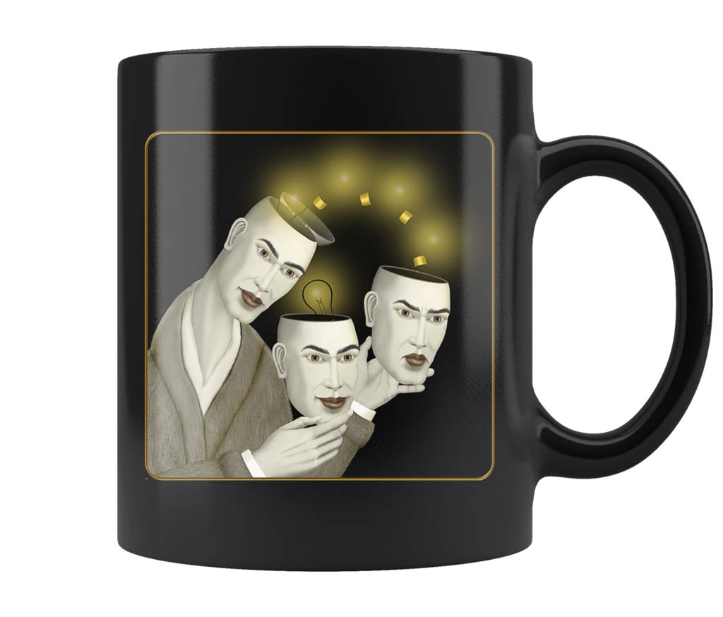 Brainstorming - 11 oz black mug