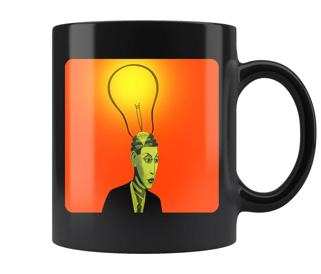 Bright Idea - 11 oz black mug