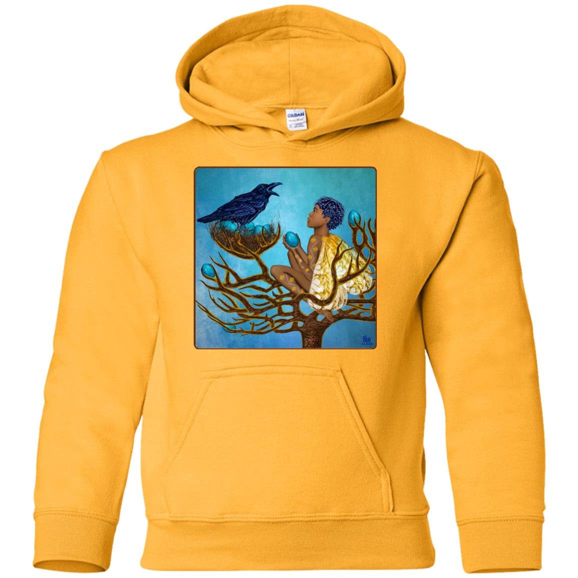 The blue raven's friend - Youth Hoodie
