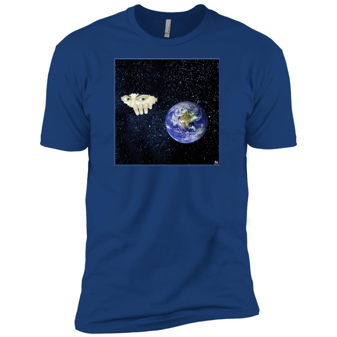 SOMEWHERE OUT THERE - Men's Premium Fitted T-Shirt
