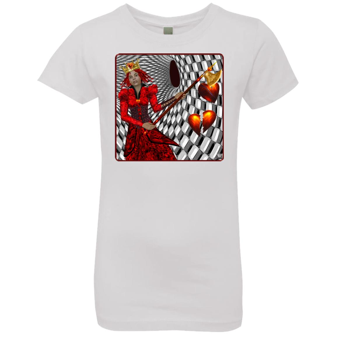 portrait of the queen of hearts - Girl's Premium Cotton T-Shirt
