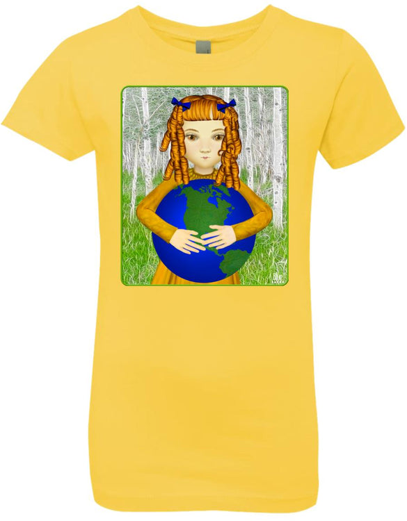 Save My World - Girl's Premium Cotton T-Shirt