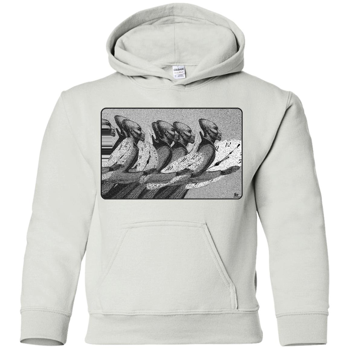 Time Marching On - B&W - Youth Hoodie