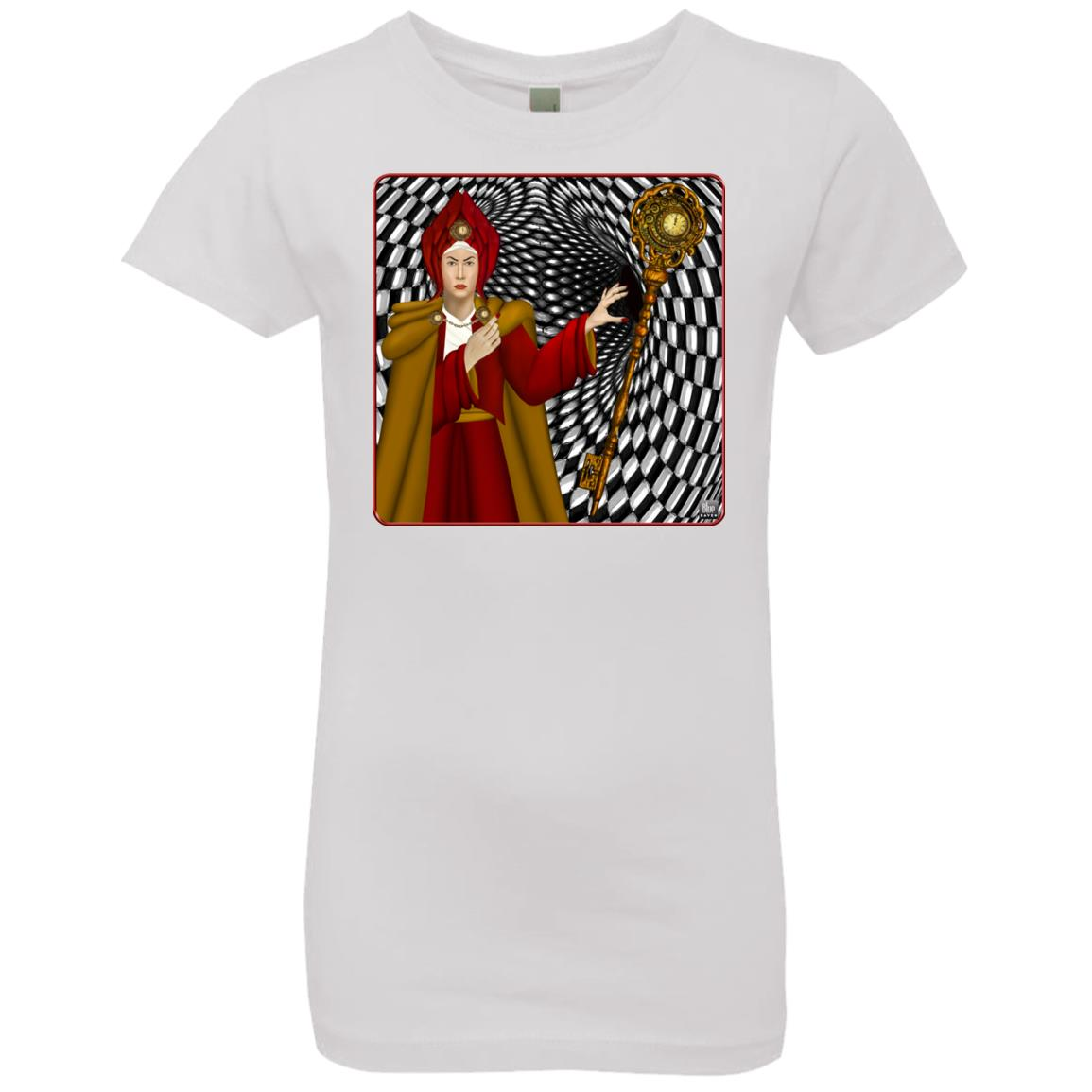 PORTRAIT OF THE RED QUEEN - Girl's Premium Cotton T-Shirt