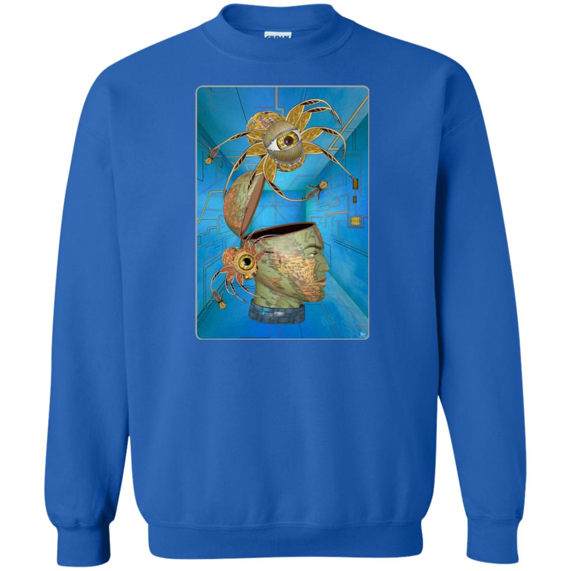 SPYDERBOT CONTROLS THE WORLD - Men's Crew Neck Sweatshirt