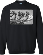 Time Marching On - B&W - Men's Crew Neck Sweatshirt