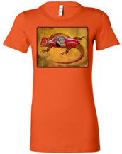 Uber Lizard - red - Women's Fitted T-Shirt