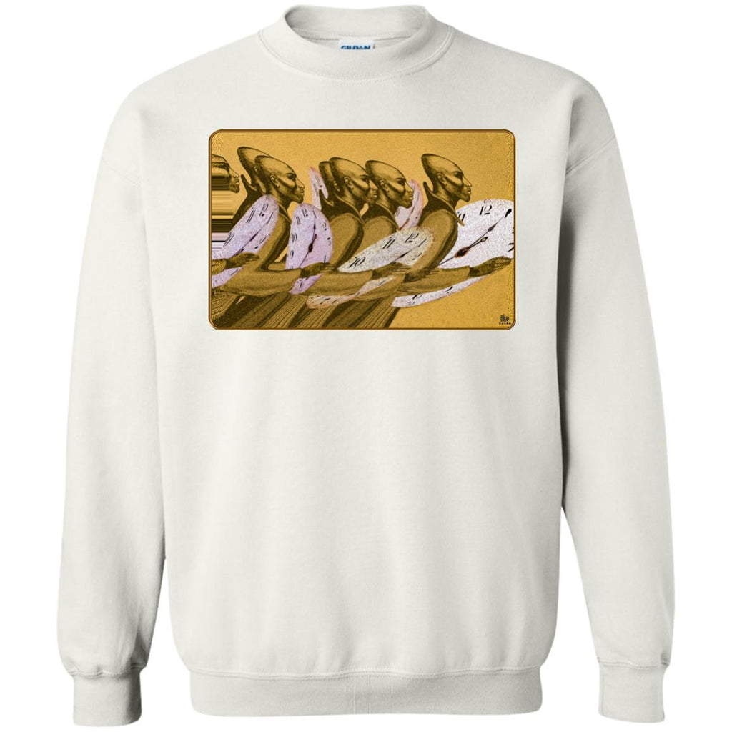 Time Marching On - Gold - Men's Crew Neck Sweatshirt