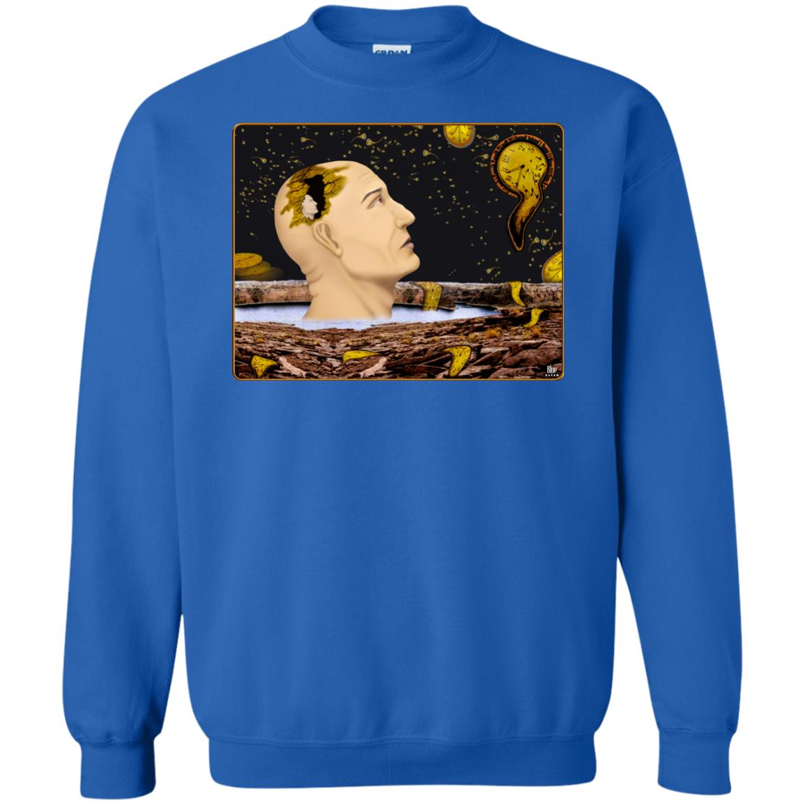 EARTH TIME RUNNING OUT - Men's Crew Neck Sweatshirt