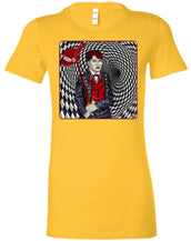 PORTRAIT OF A MAD HATTER - Women's Fitted T-Shirt