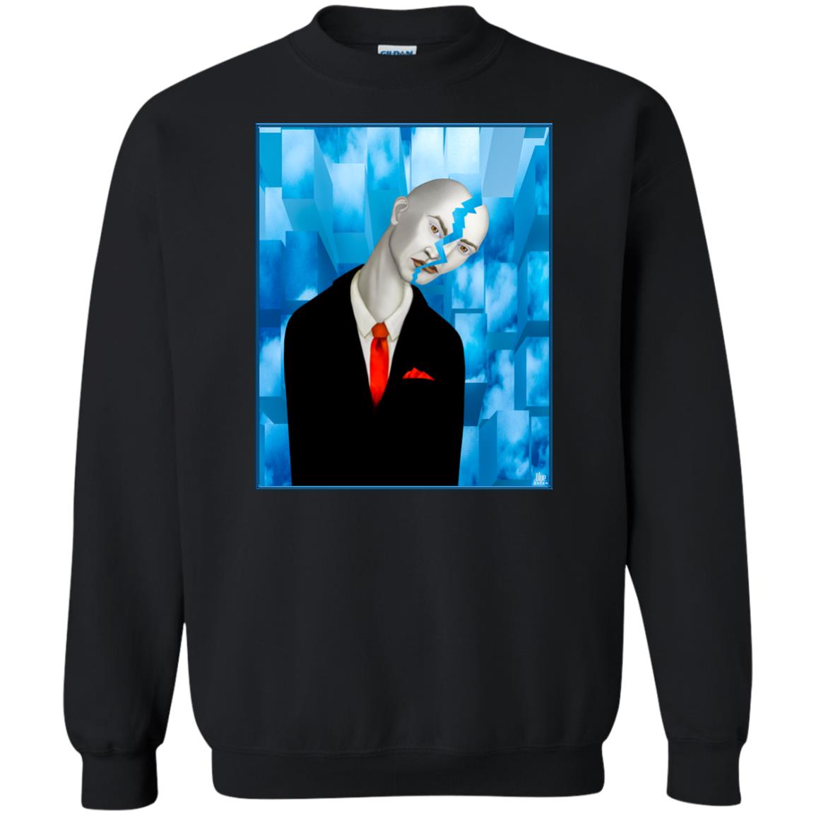 Cracked - Men's Crew Neck Sweatshirt